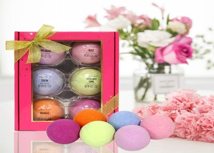Body & Earth 6 - Piece Large Bath Fizz Balls Infused With Shea Butter And Sea Salt
